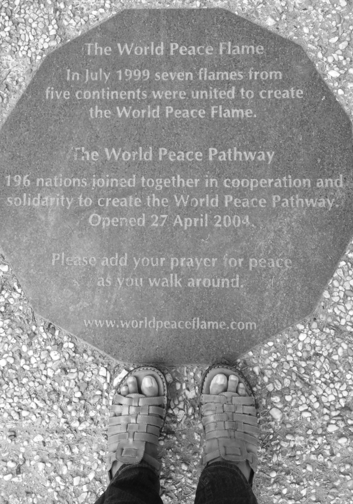 Meditating on peace at the Peace Palace in the Hague