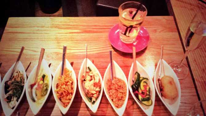 My first rijsttafel at the fabulous Indonesian restaurant Blauw in Amsterdam