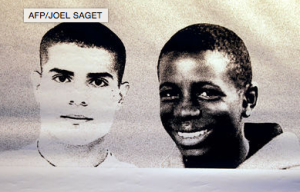 Zyed Benna and Bouna Traoré, two teenagers who died on October 27th in 2005 after being chased by police officers. Photo courtesy of Le Monde.